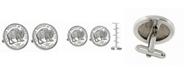 American Coin Treasures Westward Journey 2005 Bison Jefferson Nickel Bezel Coin Cuff Links