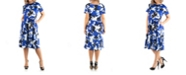 24seven Comfort Apparel Women's Plus Size Abstract Print Dress