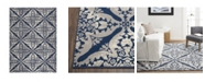 """Global Rug Designs Haven Hav12 Blue and Gray 9'2"""" x 12'5"""" Area Rug"""