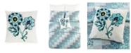 Jessica Simpson Vera Bradley Cloud Vines Floral Embroidered Decorative Pillow