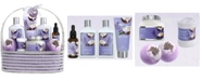 Lovery 9 Piece Home Spa Lavender Coconut Body Care Gift Set