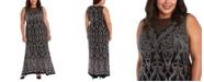 R & M Richards R&M Richards Plus Size Embellished Glitter Gown