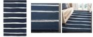 """Martha Stewart Collection Chalk Stripe MSR3617C Navy 2'6"""" x 10' Runner Area Rug"""