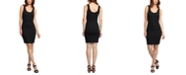 Black Tape Ribbed Bodycon Dress