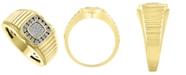 Macy's Men's Diamond (1/2 ct.t.w.) Ring in 10k Yellow Gold