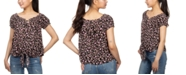 Hippie Rose Juniors' Floral Print Peasant Top