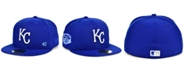 New Era Kansas Men's City Royals Jackie Robinson 50th Patch 59FIFTY-FITTED Cap