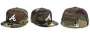 New Era Atlanta Braves Woodland Basic 59FIFTY Cap
