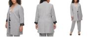 Calvin Klein Plus Size Collarless Long Blazer