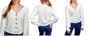Self Esteem Juniors' Rib-Knit Cardigan Top
