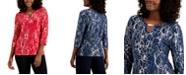 JM Collection Metallic Embroidered Top, Created for Macy's