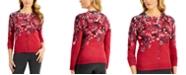 Karen Scott Falling Fleurs Button Cardigan, Created for Macy's