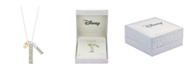 "Disney Two-Tone Mickey Mouse ""Dream"" Charm Pendant Necklace in Fine Silver Plate"