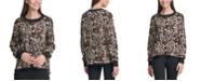 Calvin Klein Leopard-Print Crewneck Sweater