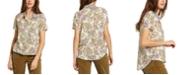 Volcom Juniors Sorry Babe Mixed Print Shirt