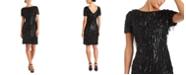 R & M Richards Sequin V-Back Sheath Dress