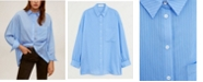 MANGO Women's Oversize Flowy Shirt