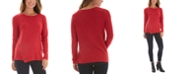 BCX Juniors' Asymmetrical Button-Detail Sweater