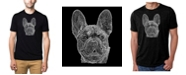 LA Pop Art Men's Premium Word Art French Bulldog T-shirt