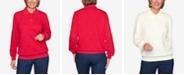 Alfred Dunner Plus Size Classics Long Sleeve Jacquard T-shirt