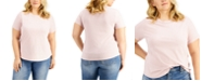 INC International Concepts INC Plus Size Cotton Short-Sleeve T-Shirt, Created for Macy's