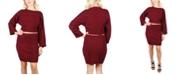 Crystal Doll Juniors' Bell-Sleeve Sweater Set