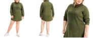 FULL CIRCLE TRENDS Trendy Plus Size Sweatshirt Dress