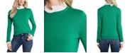 CeCe Embellished Contrast Sweater