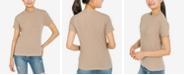 Hippie Rose Juniors' Mock-Neck T-Shirt