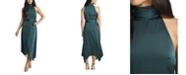 Vince Camuto Women's Mock Halter Neck Sleeveless Dress
