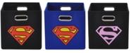 Modern Littles Superman Logo Folding Storage Bin