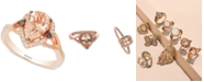 Le Vian Chocolatier® Peach Morganite (1-1/3 ct. t.w.) and Diamond (1/5 ct. t.w.) Ring in 14k Rose Gold, Created for Macy's