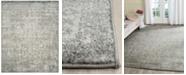 """Safavieh  Evoke EVK256S Silver/Ivory 6'7"""" Square Area Rug"""
