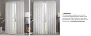 Madison Park Irina Embroidered Diamond Sheer Window Panel Collection