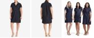 Lauren Ralph Lauren Plus Size Cotton Denim Shift Dress