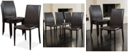 Noble House Orlow Set of 4 Stacking Chairs, Quick Ship