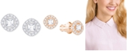 Swarovski Square Crystal Halo Stud Earrings