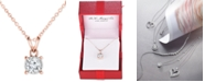 """TruMiracle Diamond Pendant 18"""" Necklace (1/2 ct. t.w.) in 14k Gold, Rose Gold or White Gold"""