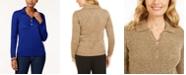 Karen Scott Marled Button Sweater, Created for Macy's
