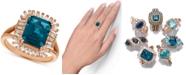 Le Vian Deep Sea Blue Topaz™ (3-1/3 ct. t.w.) & Diamond (1/3 c.t. t.w.) Ring in 14k Rose Gold