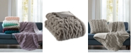 Madison Park Reversible Ruched Faux-Fur Throw