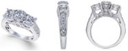 Macy's Diamond Trinity Engagement Ring (3 ct. t.w.) in 14k White Gold