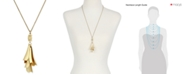 Lucky Brand Gold-Tone Petal Pendant Necklace