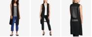 DKNY Sheer-Back Long Vest
