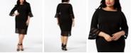 Calvin Klein Plus Size Illusion-Trim Sheath Dress