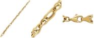 Macy's Polished Oval Link Bracelet in 14k Gold