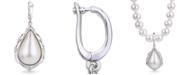 Macy's Teardrop Mabé Cultured Freshwater Pearl Enhancer in Sterling Silver