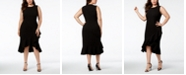 Calvin Klein Plus Size Ruffled High-Low Midi Dress