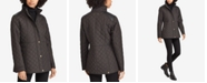Lauren Ralph Lauren Faux-Leather-Trim Quilted Jacket, Created for Macy's