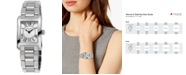 Frederique Constant Women's Swiss Carree Stainless Steel Bracelet Watch 23x21mm